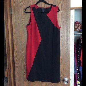 Inc. Red/Black Sleeveless Dress Size 2X